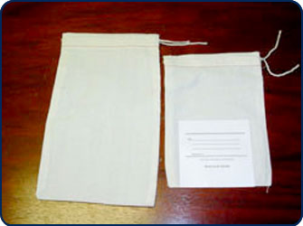 Midwest Pacific Brand Cloth Drawstring Mailing Bags