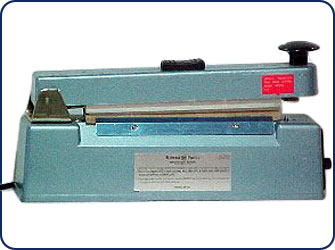 "8"" Hand Operated Heat Sealer w/ Cutter"