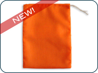 Orange Fluorescent Drawstring Bags